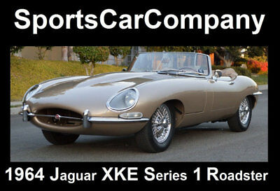 1964 Jaguar E-Type XKE SERIES 1 ROADSTER 1964 JAGUAR XKE SERIES 1 ROADSTER EXPERT ROTISSERIE RESTORATION BEST IN SHOW !
