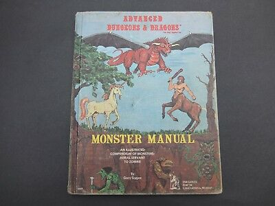 Monster Manual  First Print  AD&D Gary Gygax Dungeons and Dragons TSR
