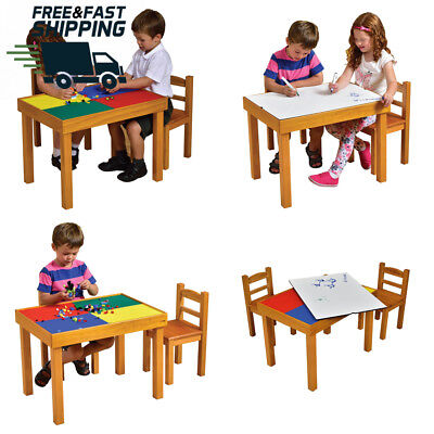 House Toys Multi Purpose Wooden Table And Chairs Set Durable Removable Top