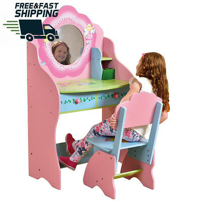 Kids Toys Fairy Dressing Table And Chair Realistic Design Beautiful Colours