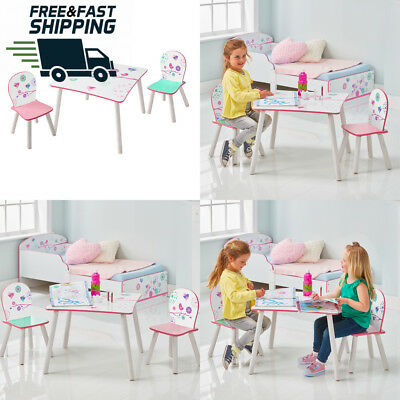 Flowers and Birds Kids Table 2 Chair Set by HelloHome