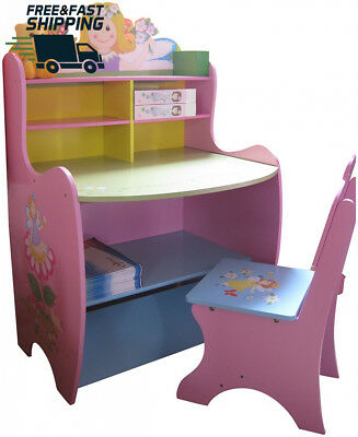 Kids Home Toys Fairy Desk And Chair Beautiful Design For Play Time Lots Of Space