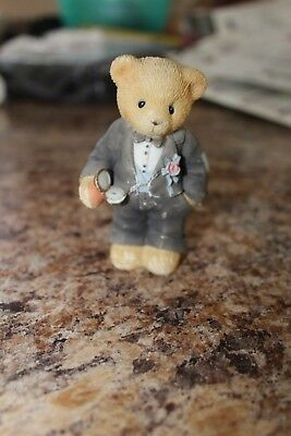 """1998 """"A Beary Special Groom To Be"""" Figurine #476315"""