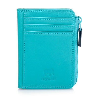 Mywalit Leather Small Zippered Purse Wallet Capsule Collection 8334