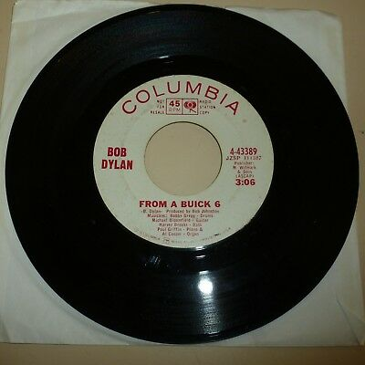 Singer Songwriter 45 Rpm Record - Bob Dylan - Columbia 43389 - Promo