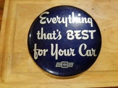 """vintage Chevrolet advertising button """" Everything that's best for your car"""""""