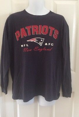 online store 0d490 a92c9 NEW ENGLAND PATRIOTS NFL Team Apparel Vintage Design Large T-shirt AFC L/S  Navy