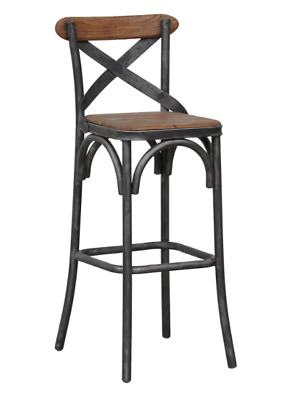Strange New 30 Inch Bar Height Stool Reclaimed Wood Iron Rustic Theyellowbook Wood Chair Design Ideas Theyellowbookinfo