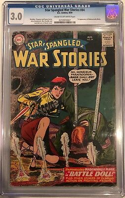 Star Spangled War Stories #84 CGC 3.0 1st app. of Mlle Marie.KEY ISSUE!L@@K!