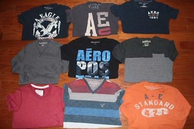 Lot Of 9 Adult Mens American Eagle T Shirts Aeropostale Graphic Tees All Size Xs