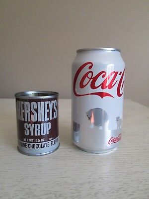 Vintage Hershey's Chocolate Syrup 5.5oz Miniature Cocoa Can Tin