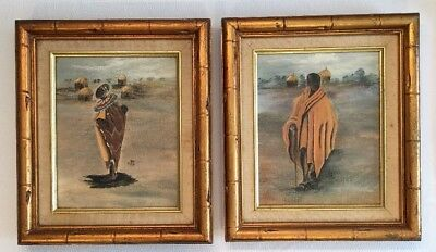 Annie Lee Art~ Framed ~African American Lithograph On Canvas VINTAGE