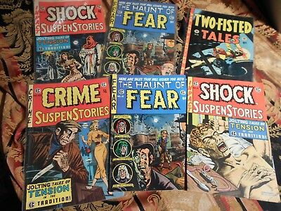 Bronze Age Ec Reprints , Shock Suspense,haunt Of Fear ,crime Suspense