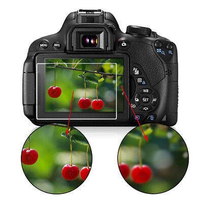 Optical Tempered Glass Camera Screen HD Protector Cover For Canon 750D CV