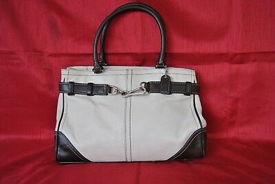 Coach Cream And Brown Leather Purse - Euc
