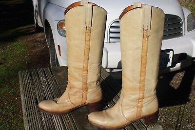 Tall Vintage Distressed Frye Campus Riding Boots 10 B