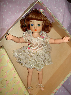 "Gorgeous 1957 Horsman CINDY Super-Flex 18"" ballerina doll, NADIA in original box"