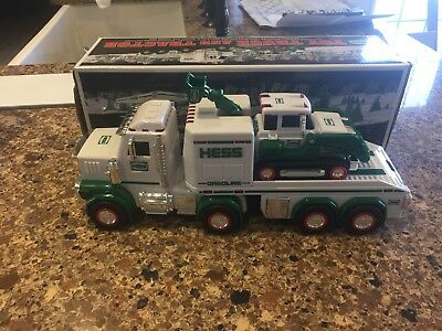 2013 Hess Toy Truck Tractor With Box Plow Lights