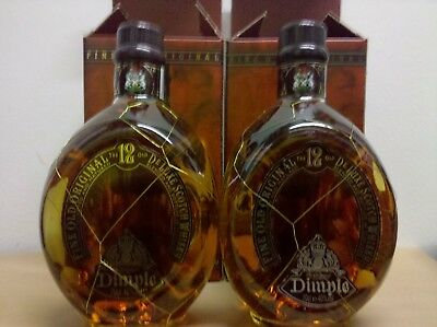 Dimple 12Years Fine Old Blended Scotch Whisky Originalverpackung 2 Flaschen