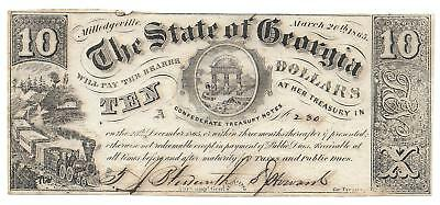 $10.00 Civil War Issue - The State of Georgia, March 20th 1865