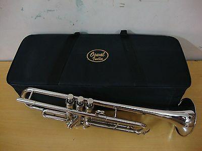 NICE WORKINGBrand New Silver Bb Trumpet FOR SALE With Free Hard Case+Mouthpiece