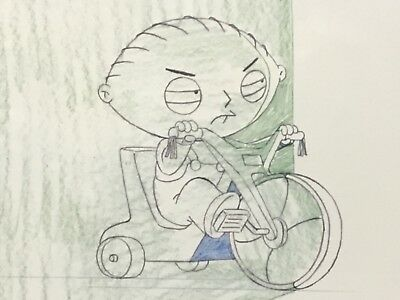 "2005 FAMILY GUY Exclusive Edition ""STEWIE ON TRICYCLE"" LITHOGRAPH PRINT with COA"