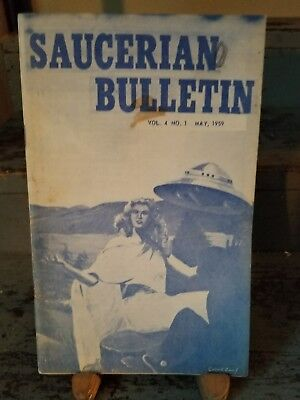The Saucerian Bulletin, V4, No. 1, May, 1959 by Paperback Book (English RARE UFO