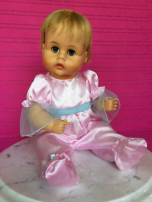 """HTF Rare 1964 Tiny Tears American Character Doll, 17"""" Tall, Rooted Hair, Lashes"""