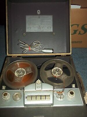 1956 Working Tape A Matic Reel To Reel With Mic Recorder 710 + County Music