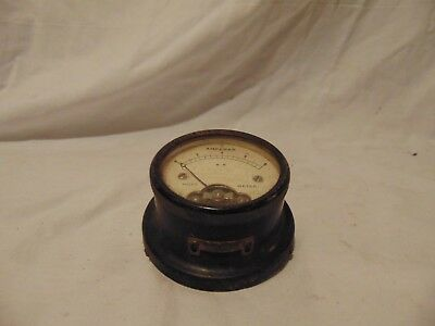 "vintage Hoyt Panel Meter Amperes DC 0-8 model 508 USA 2 1/2"" round"