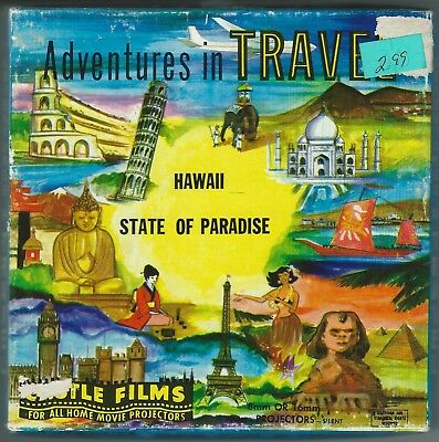 "ADVENTURES IN TRAVEL-HAWAII-CASTLE FILMS #271 8mm/16mm, 5"" reel, 200 ft, vintage"