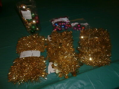 Christmas Tinsel And Assorted Baubles