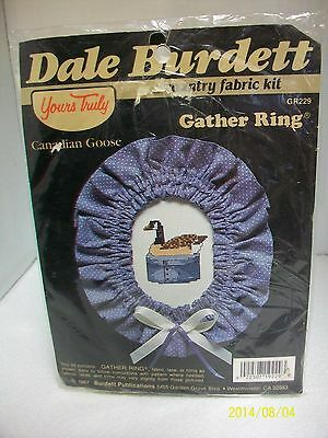 """Dale Burdett Counted Cross Stitch Kit """"canadian Goose"""" W/ Gather Ring Sealed"""