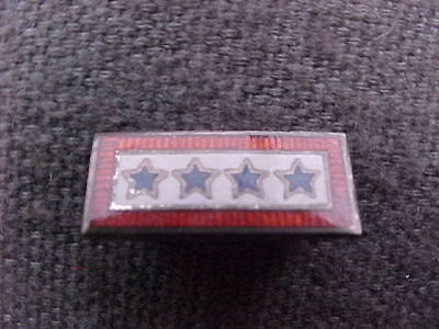 Vintage WWII Military Sterling Silver Enamel 4 Star Son in Service Mother Pin