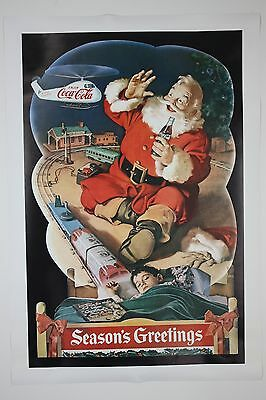 Special Edition Coca Cola Christmas Poster Santa Coke Helicopter Night Before