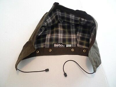 Barbour--Heavyweight Waxed Cotton Hood -Olive- For Moorland & Solway- Made In Uk