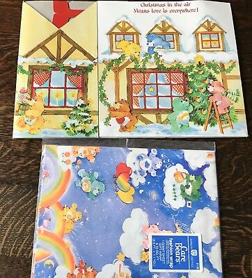 Vintage Care Bears Gift Wrapping Paper & Christmas Gift Box