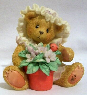 """Cherished Teddies Violet """"Blessings Bloom When You Are Near"""" #156280"""