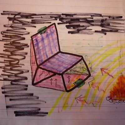"""BakGlo CAMPFIRE CHAIR HEAT REFLECTOR unrolls and clips to some chairs 22"""" X 50"""""""