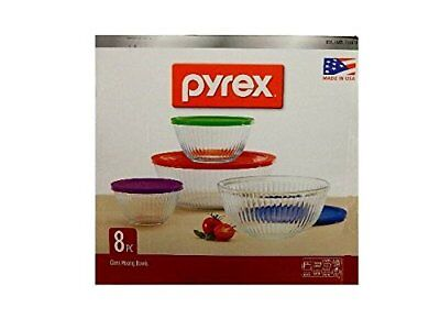 Pyrex 8-piece 100 Years Glass Mixing Bowl Set Limited Edition