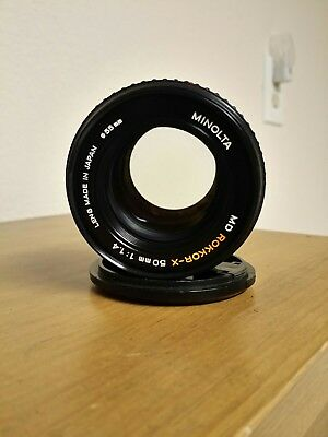 Minolta 50mm F/1.4 camera lens Rokkor-X MD