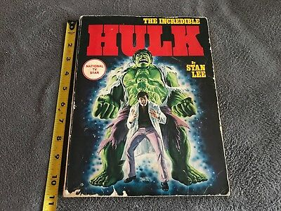 THE INCREDIBLE HULK 1978 trade paperback comic book National TV Star by Stan Lee
