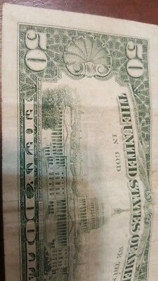 Fifty dollar bill 1985 Letter K, Good condition