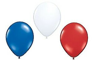 15 Latex Balloons Red, White, & Blue