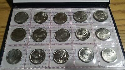 Thailand King Rama IX Commemorative 1 Baht Set 15 coins