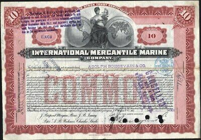 Internaional Mercantile Marine Co, 1908, Engraved By American Bank Note Co