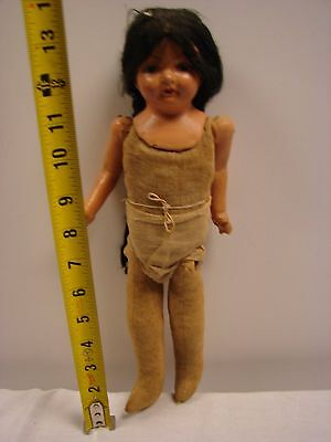 Vintage Doll Composition Head 13 Inch Parts Repair Restore Straw Stuffed Body