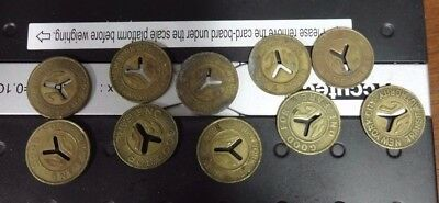 NYC Transit Authority 10 CUT Y TOKENS  22 MM