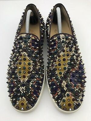 04be39feeb3 CHRISTIAN LOUBOUTIN SNEAKERS Roller-Boat Python Men's US Size 9.5  (MSRP:$1195)
