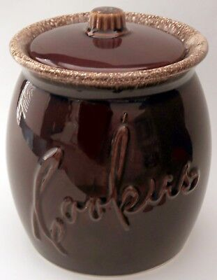 """Vintage HULL Brown Drip Pottery ~ Large COOKIE JAR 9""""x7"""" ~ Excellent condition!"""